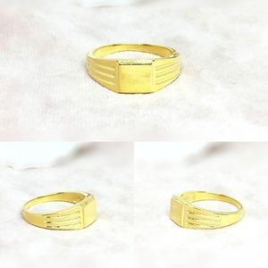 Vermeil 14K Gold Over Sterling Silver Signet Ring